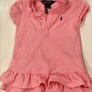 Ralph Lauren Baby Pink Polo Dress 9 Months